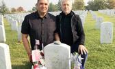 Lennard and Lance at Charles Morse's grave