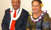 House Speaker Savali Talavou Ale with his wife, Beauty