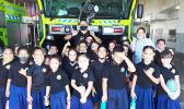 Samoa Baptist Academy students at the PPG fire station