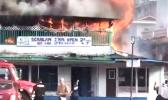 Scanlan building in Fagatogo on fire