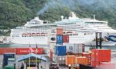 "The ""Sea Princess"" — a Princess Cruises vessel docking in Pago Pago horbor,"