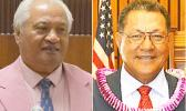 House Speaker Savali Talavou Ale (left) and Senate President Gaoteote Palaie Tofau (right)