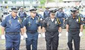 Seniors police officers parading during 2017 Police Week celebration.