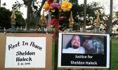 Sheldon Haleck memorial signs