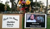 Sheldon Haleck memorial signs