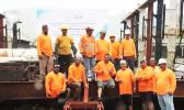Mike Pulu, Hymal Vaimaona, Aquatic Blue Environmental and the shipyard crew