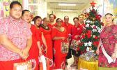 Reigning Miss SOFIAS, Vanessa Ta'amu Simanu (far right) along with officers and members of the Sosaiete O Fa'afafine I Amerika Samoa