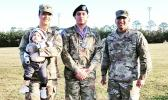 SPC Arrianna Princess Auva'a of Malaeloa with Mr. Kyren Thomsen, SPC  Soapy J. Ifopo of Tafuna, and SSG Joey Taiese of Aunu'u