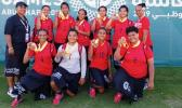 American Samoa Special Olympians with their bronze medals