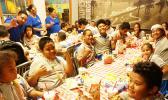 Manulele SPED students enjoying burgers at Carl's Jr.