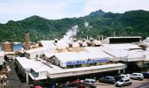 Aerial view of Starkist canning plant in American Samoa