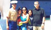 LCPL Stein Mcentire a 20-year-old local raised in American Samoa, with his proud parents Patrick and Tupou Mcentire and his siblings Ryan and Susan.  [Courtesy photo]