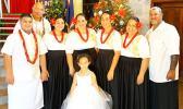 A family who enjoyed the CCCAS Petesa Uta annual concert