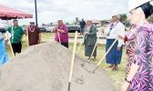 Participants in the groundbreaking for the Tafuna Community Center