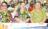Human Resources director Eseneiaso Liu, ASG Budget Office director Catherine A. Saelua, and Territorial Bank of American Samoa chief executive officer, Drew Roberts
