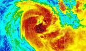 Visible infra-red satellite imagery of Cyclone Sara