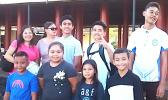 Some of American Samoa's Junior Golfers and families