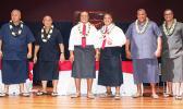 I'aulualo/Tapa'au team (far left); Nua/Satele (middle) and Lemanu/Talauega (far right)