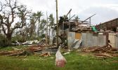 The aftermath of Cyclone Gita
