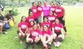 The Faga'itua Vikings Girls Soccer Team