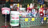 """""""Pay it Forward, Toy Drive"""", drop off bin at the Cost-U-Less store. The toy drive project is to help children of Samoa Tuna Processors employees, who will be laid off at the end of this week.  [courtesy photo]"""