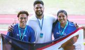 Team American Samoa with coach Sonny Sanitoa