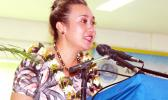 Trixy Taua-Petaia during her keynote address on Tuesday
