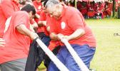 Lt. Gov. leading the tug of war at the 2019 ASG Workforce Day