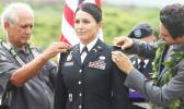 Congresswoman Tulsi Gabbard during 2015 promotion ceremony