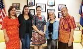 Ms. Bonnelley Pauulu (ASG-Hawaii), Ms. Oilau Lutali (UH), Ms. H. Gingerlei Porter (UH), Ms. Britanica Sene (UH) and Mr. Soliali'i Falepo (ASG-Hawaii)