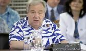 United Nations Secretary-General Antonio Guterres addresses the Pacific Islands Forum