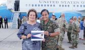 Amata with U.S. Marine Anasitasia Ioane of Aua