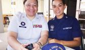 YN1 Moli Po Ching and YN2 Kapewalani Ornong