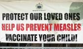 Vaccinate your child billboard in Samoa