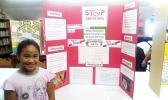 Vaiana Taufuiono Ma'o-Aab with her winning science project