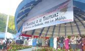 Lemanu Peleti Palepoi Sialega Mauga, Lt. Gov. Talauega Eleasalo Ale, Fono leaders and Chief Justice Micheal Kruse and VIPs