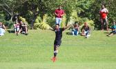 Walter Pati of American Samoa celebrates after scoring the
