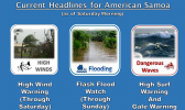 Weather warning graphics