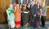 Congresswoman Amata and members of her staff with Speaker of the House Paul Ryan on Swearing in Day for the 115th Congress. [courtesy photo]