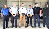 Jose Sousa-Santos, third from left, with Papua New Guinea, Australian and New Zealand police advisors