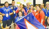 The American Samoa weightlifting team after winning 8 medals during the 2015 Pacific Games in PNG. The American Samoa National Olympic Committee (ASNOC) is aiming to raise the bar for AS in the upcoming 2019 Pacific Games set to be hosted in Samoa. Read story for details.  [photo: AF]