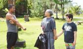 Frances Jane Saelua Togia, speaking with the pulenu'u
