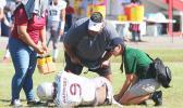 Tafuna Warriors star middle-linebacker Elden Titania is injured