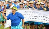 Representing the many, a government employee performed a Samoan dance during the ASG 4th Annual Workforce Day, last Friday, at the Veterans Memorial Stadium. The event honors all workers in American Samoa — public and private sector. [photo: AF]